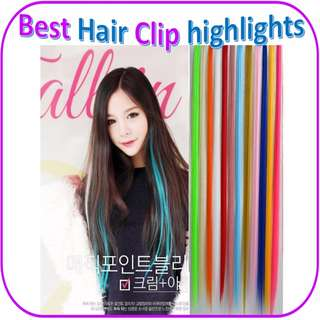 10 Free 2!  1 Clip Ombre Hair Extensions Clip On RAINBOW