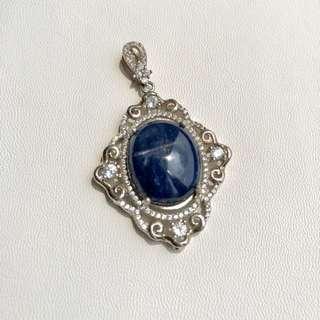 Pendant with Blue Sapphire & Cubic Zirconia stones
