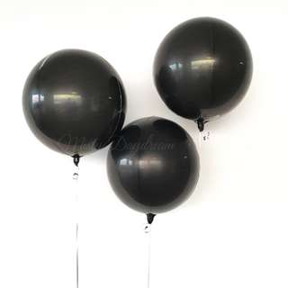 Helium Balloons - Orbz 16″/41cm Sphere Black Shaped Balloon