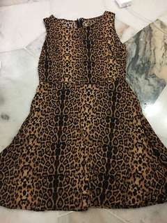 Cotton on casual leopard print dress