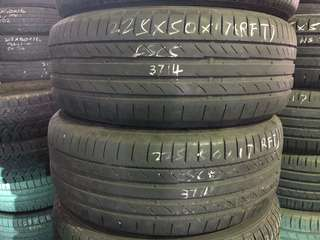 225/50R17 Continental RunFlat Used Tyres