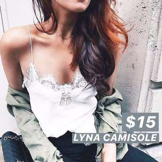 INSTOCKS Lyna Camisole Top - White / Black