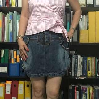 Authentic Charles Jordan Denim Skirt