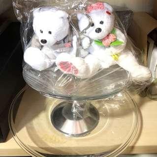 Wedding bears and flower tray