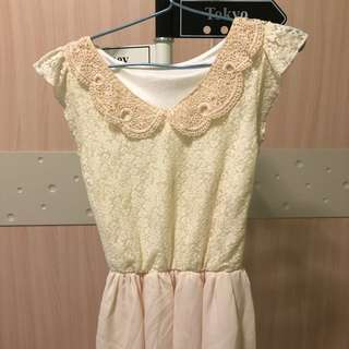 Obral Mini Dress Krem