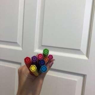 Coloured markes