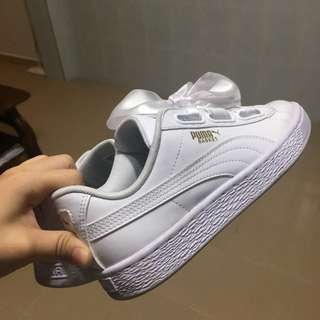 Puma Basket Heart White
