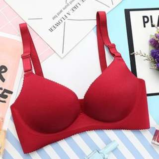 [PO134]7 Colors Gather Push Up Seamless Bra Sexy Lingerie Traceless One-piece