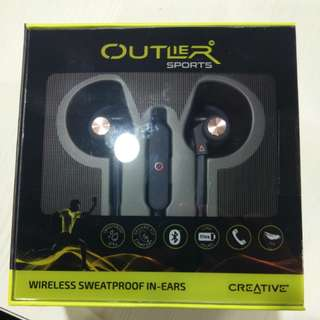 BNIB Creative Outlier Sports bluetooth earphones (dark blue)