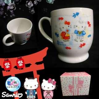 藍河馬x Sanrio HELLO KITTY DEAR DANIEL 公仔 陶瓷杯