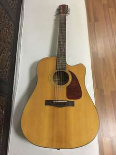 Fender semi acoustic guitar with gig bag