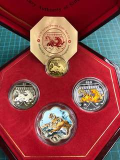 2010 Tiger 3 in 1 Coin set