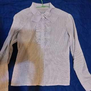 M號蝴蝶結長袖襯衫
