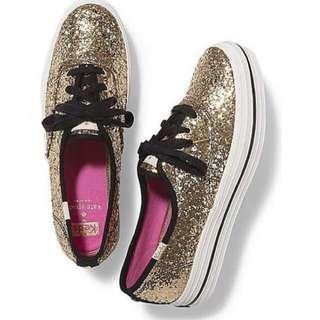 Keds x Kate Spade Triple Glitter Gold