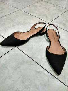 preloved black flatshoes