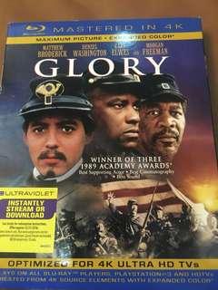 Glory, blu ray disc