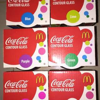 Limited McD Coca Cola Contour Glass (Price inclusive of delivery fees)