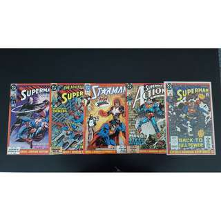 Superman : Krisis of the Krimson Kryptonite (Complete Set of 5 Books) ICONIC!!