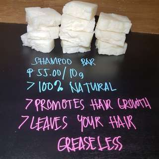 All natural Coconut shampoo bar