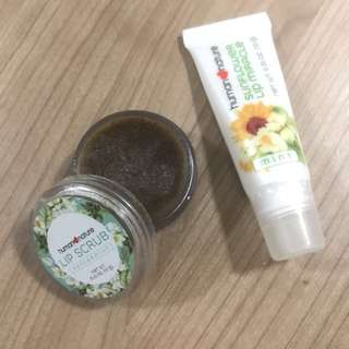 Human nature lip scrub and lip moisturizer