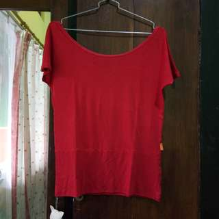 Red Plain Tshirt