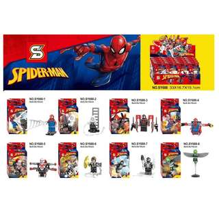 SY688 Super Heroes Spider-Man 8in1 Minifigures Set