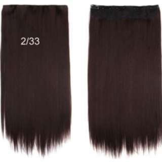 Classic 1 piece Hair Extensions Clip On Chestnut Brown SALES !