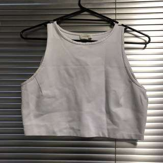 WITCHERY White Cropped Top - M / 10