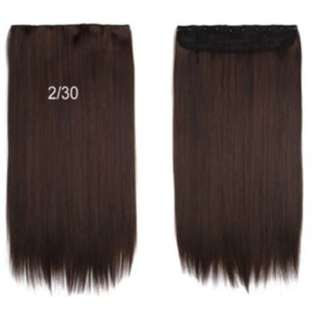 5 Clips Straight Hair Extensions Light Brown 2 for @$32