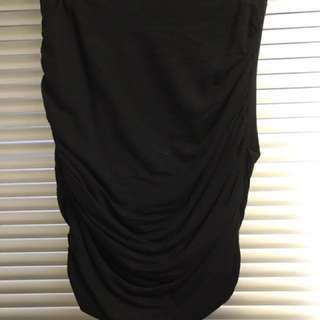 Witchery Black Mini skirt - Rouched- Stretchy - Bandage - Size 8