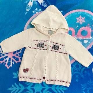 彼得兔童裝 米白色針織毛衣外套 奇哥