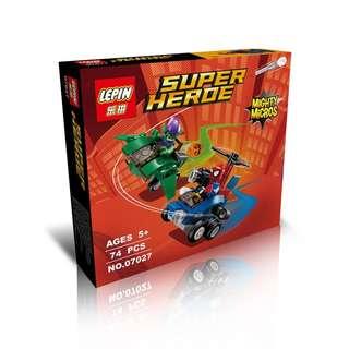 LEPIN 07027 Mighty Micros: Green Goblin vs. Spider-Man