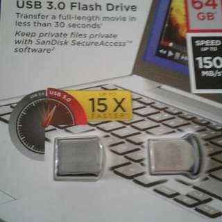 64GB Sandisk Ultra Fit thumbdrive