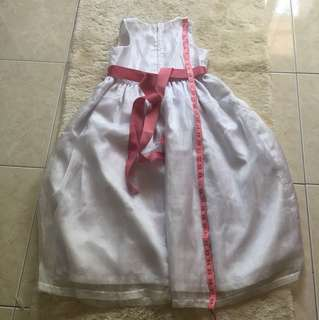 Baju flower girl bahu 11 inc panjang 38inc (like new)