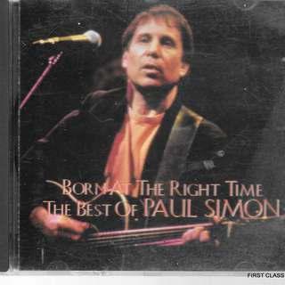 MY PRELOVED CD -PAUL SIMON - THE BEST OF - BORN AT THE RIGHT TIME /FREE DELIVERY (F7D)