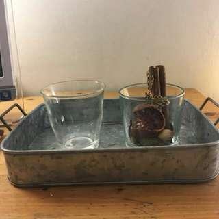 印度手工 鐵製 置物托盤 收納盤 餐盤 老品 古物