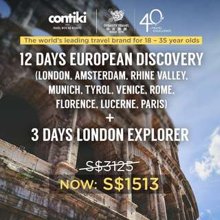 12 Days European Discovery + 3 Days London Explorer
