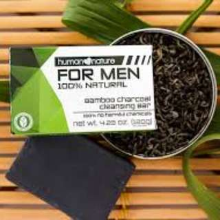 Human Nature Bamboo Charcoal Cleansing Bar for Men