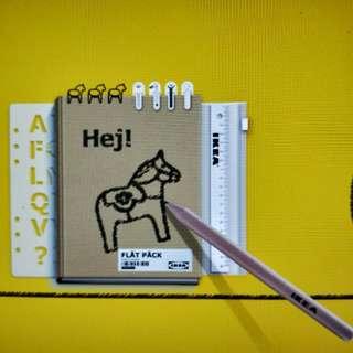 🚚 IKEA Hej! 記事本 筆記本 FLAT PACK