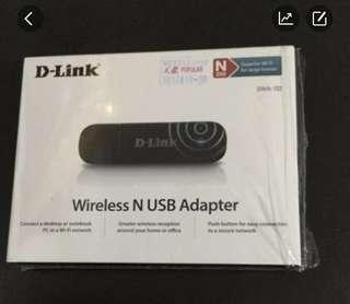 Wireless N USB adapter model DLink