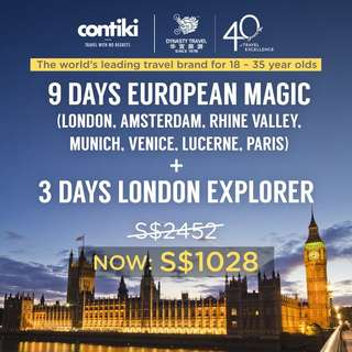 9 Days European Magic + 3 Days London Explorer