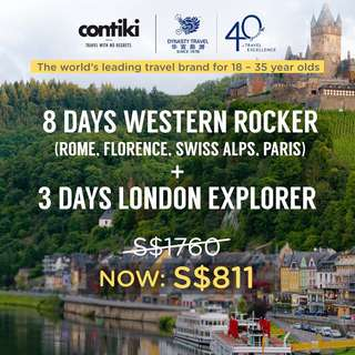 8 Days Western Rocker + 3 Days London Explorer