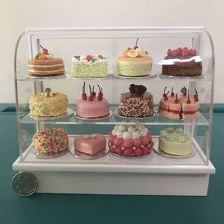 MINIATURE CAKE DISPLAY CHILLER HAND CRAFTED