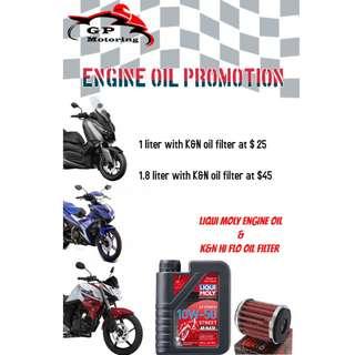 Liqui Moly & K&N Hi Flo oil fliter Promotion