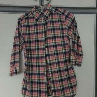 BN authentic Uniqlo 3/4 sleeve shirt