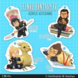 "Final Fantasy XV 2""crystal acrylic keychains [Noctis, Gladiolus, Ignis, Prompto]"