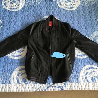 Nike Destroyer Leather and Wool Jacket Medium