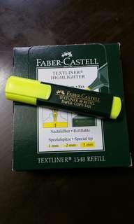 黃色螢光筆一盒10枝,一盒50蚊