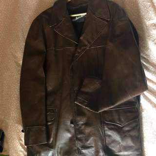 Windbreaker Leather coat