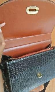 Sling Bag Bahan Croco